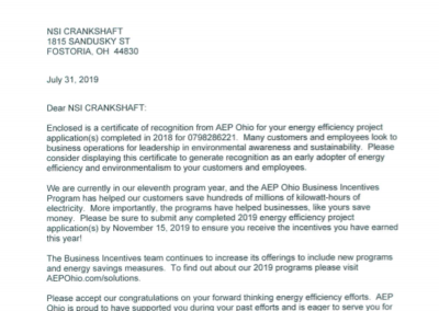 AEP Letter